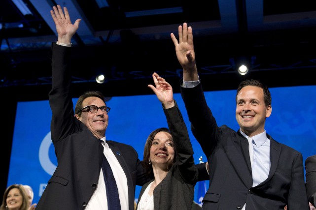 Les deux candidats défaits à la direction Martine... (La Presse Canadienne, Jacques Boissinot)