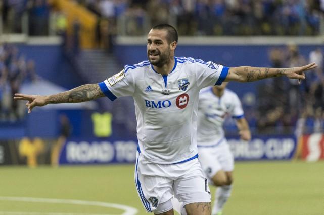 Andrés Romero a marqué à deux reprises dans... (PHOTO ARCHIVES LA PRESSE CANADIENNE)