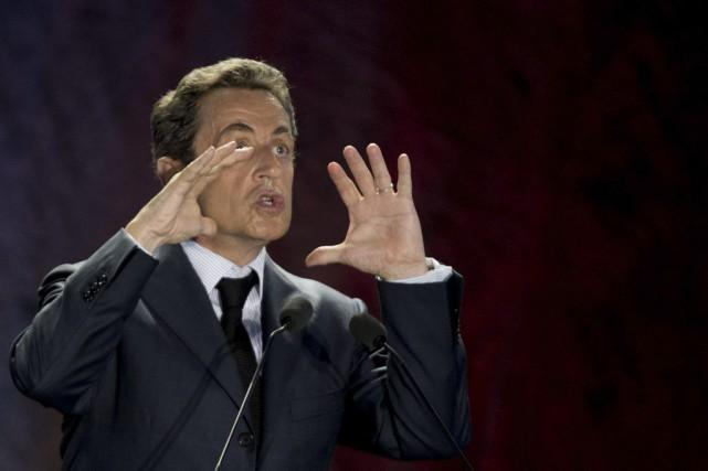 L'ancien président Nicolas Sarkozya l'intention d'être candidat à... (PHOTO KENZO TRIBOUILLARD, AFP)