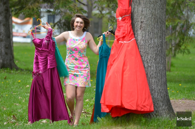 Justine Cantin a vendu 27 robes de bal... (Le Soleil, Yan Doublet)