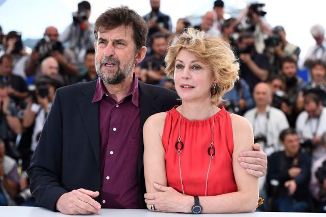 Le réalisateur italien Nanni Moretti était accompagné sur... (Agence France-Presse)