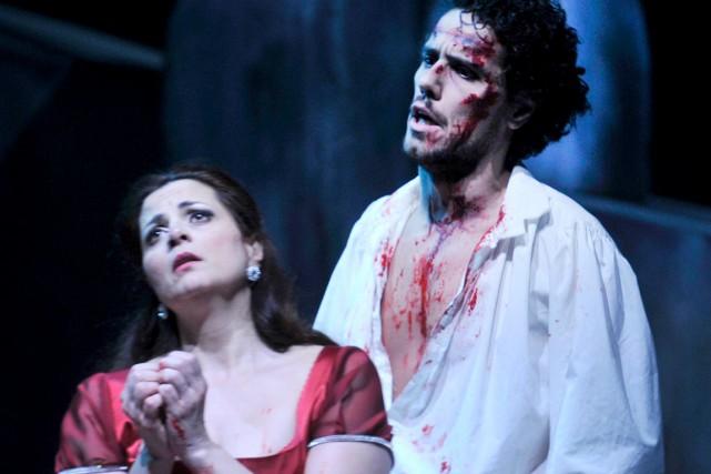 La production de l'Opéra de Québec s'appuie sur... (Fournie par l'Opéra de Québec)