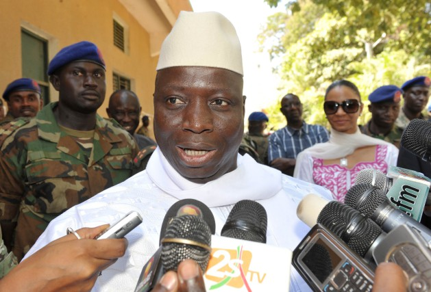 Le président gambien Yahya Jammeh... (PHOTO ARCHIVES AP)