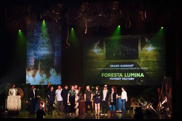 Foresta Lumina, la production multimédia nocturne de Moment Factory, a remporté... (Photo fournie)