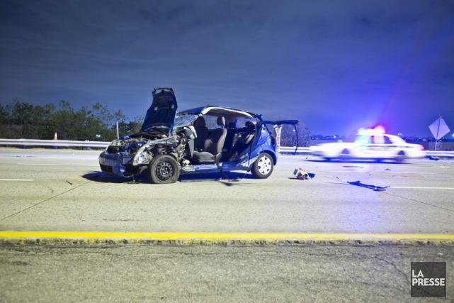 Malgré la violence des impacts, les trois conducteurs... (PHOTO FÉLIX O.J. FOURNIER, COLLABORATION SPÉCIALE)