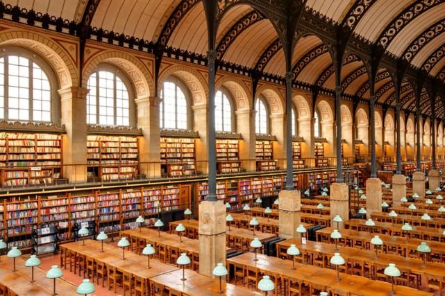La bibliothèque Sainte-Geneviève, à Paris.... (Photo Flickr)