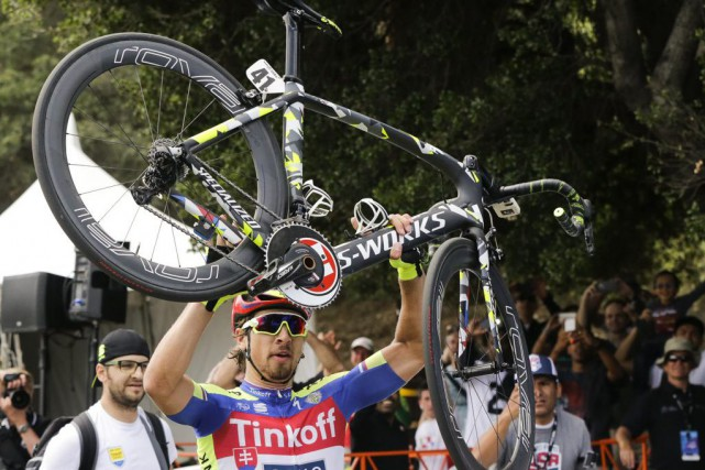 Peter Sagan... (Photo Damian Dovarganes, AP)