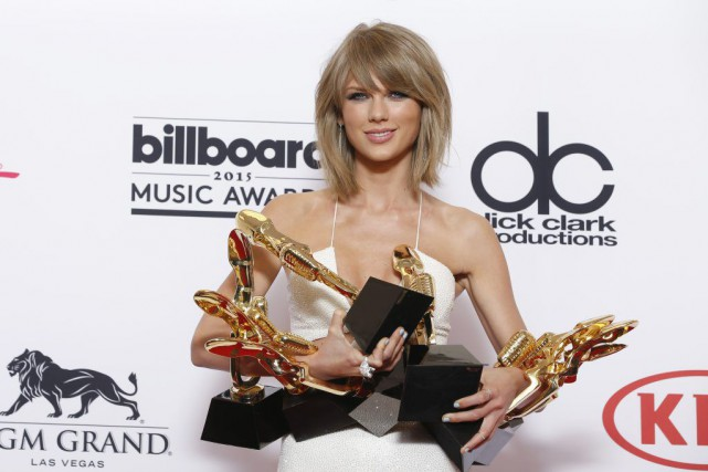 Taylor Swift... (PHOTO ERIC JAMISON, AP)