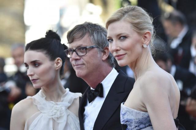 Rooney Mara etCate Blanchett jouent deux amoureuses dans... (PHOTO BERTRAND LANGLOIS, AFP)