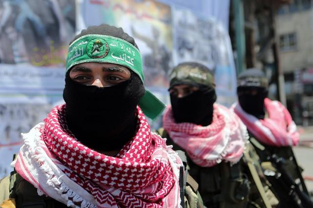 Le Hamas, le mouvement palestinien au pouvoir dans... (Photo archives AFP)