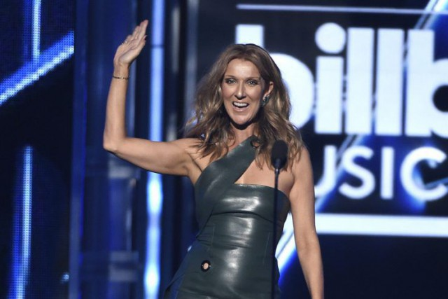 Céline Dion aux Billboard Music Awards, le 17... (PHOTO CHRIS PIZZELLO, AP)