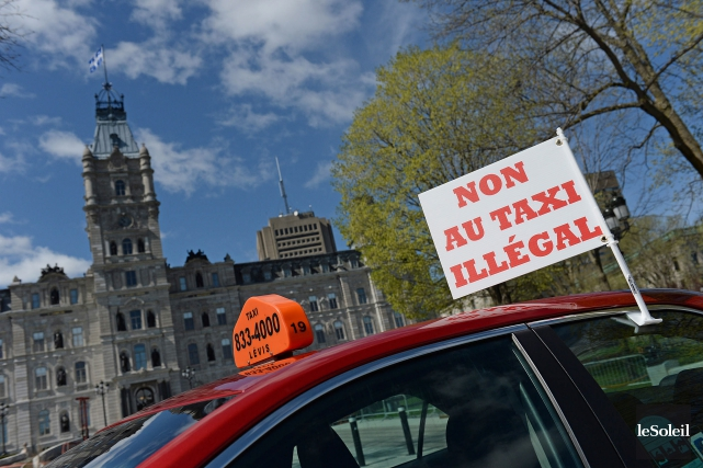 « L'industrie du taxi jouit d'un monopole sur... (Photo Patrice Laroche, archives Le Soleil)