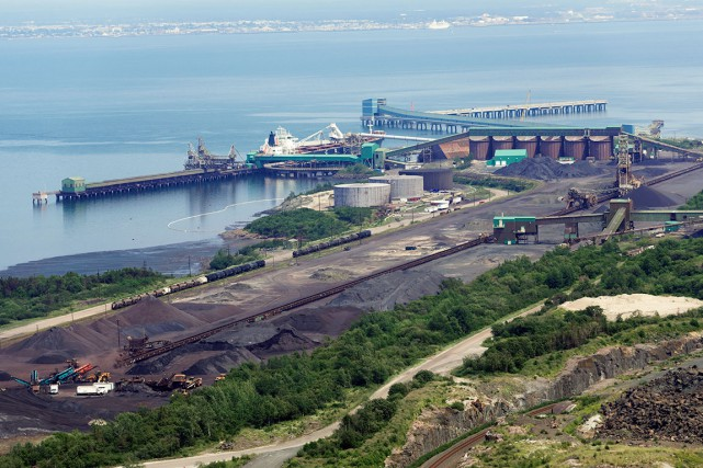 Parmi les actifs à vendre du géant Cliffs... (Photo fournie par le Port de Sept-Îles)