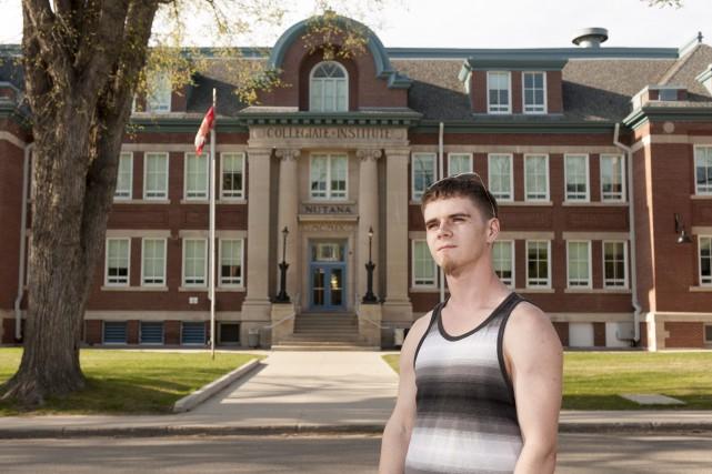 Michael Wileniec, un étudiant qui a une maladie... (La Presse Canadienne, Liam Richards)