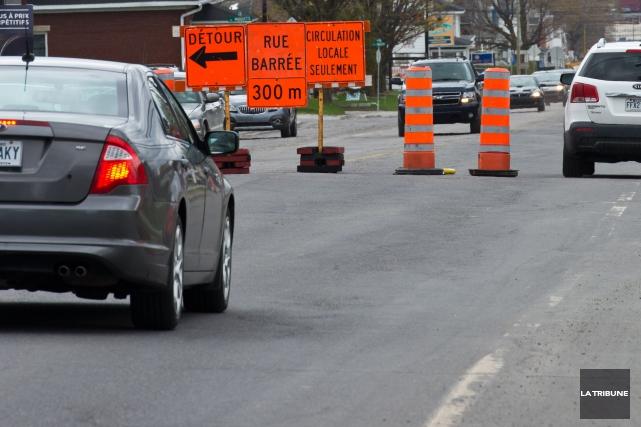 De nombreux chantiers de construction entraveront la circulation à Sherbrooke... (Archives La Tribune)