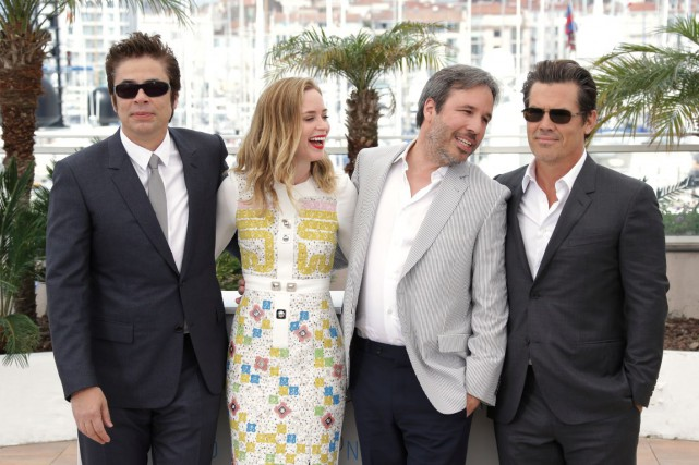 Les acteurs Benicio del Toro, Emily Blunt et... (AP)