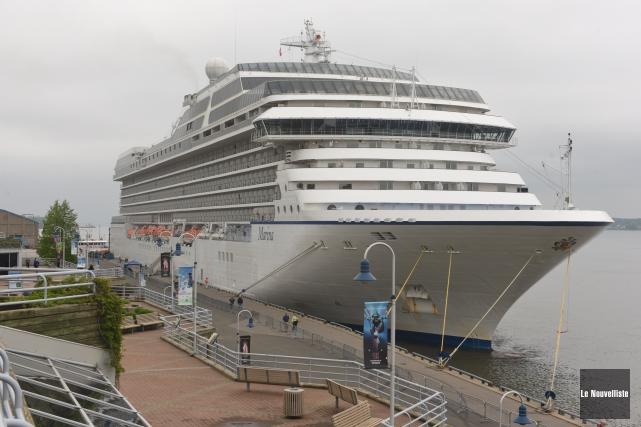 Le Marina a accosté mardi matin à Trois-Rivières.... (Photo: François Gervais, Le Nouvelliste)