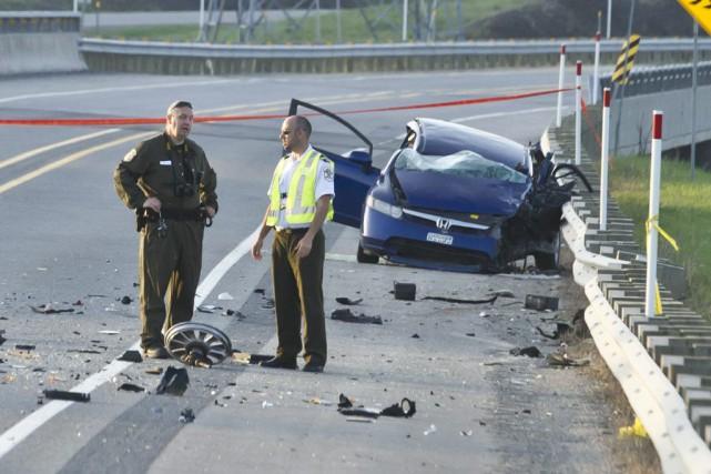 L'accident est survenu dimanche sur l'autoroute 50, à... (Martin Roy)