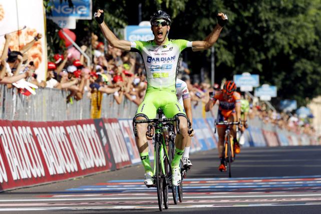 L'Italien Nicola Boem a remporté la 10e étape... (Photo Luk Benies, AFP)