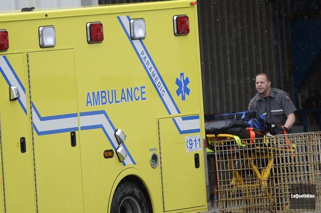 Un travailleur a perdu la vie, mardi matin, à la suite d'un accident survenu à... (Archives Le Quotidien)