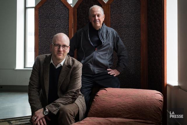 Le cinéaste Denys Arcand et le chef d'orchestre... (PHOTO ÉDOUARD PLANTE-FRÉCHETTE, LA PRESSE)