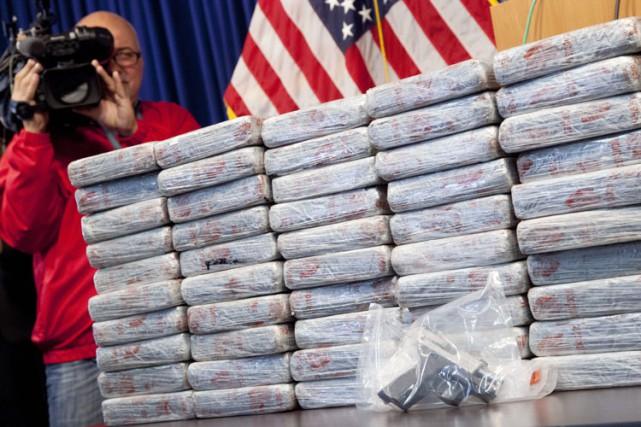 la quantité de drogue saisie chaque année à... (Photo: AP)