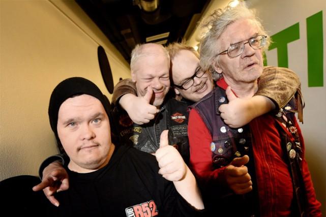 Les quatre membres de PKN:Toni Välitalo, Kari Aalto,... (Photo: AP)