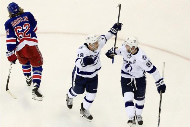Jon Cooper se demandait si le Lightning de Tampa Bay avait levé le pied après... (Photo: AP)