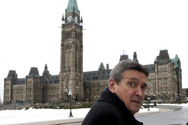 L'ancien sénateur Raymond Lavigne à Ottawa en mars... (Archives PC)
