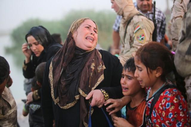 Au moins 40 000 personnes ont été déplacées... (Photo: Reuters)