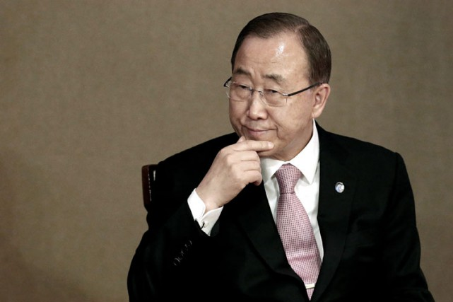 En visite mardi à Séoul, Ban Ki-moon avait... (Photo: AP)