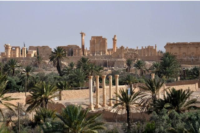 Le site archéologique de Palmyre, célèbre pour ses... (PHOTO ARCHIVES AFP/STR)