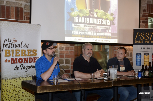 Pierre Bouchard, du Marché centre-ville, Robert Hakim et... (PHOTO LE QUOTIDIEN, JEANNOT LÉVESQUE)