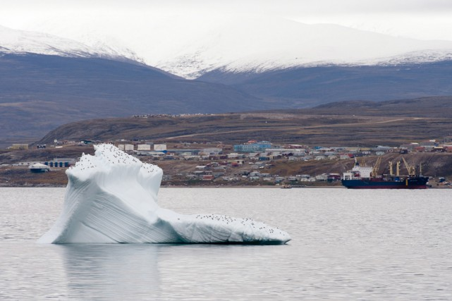 Un iceberg flotte au large de Pond Inlet,... (PHOTO ADRIAN WYLDE, PC)