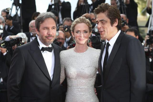 Denis Villeneuve, Emily Blunt et Benicio Del Toro... (Photo: AP)