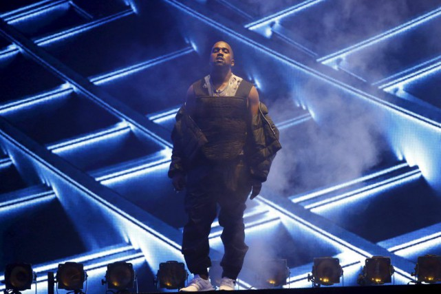Kanye West en spectacle aux Billboard Music Awards.... (Photo: Reuters)