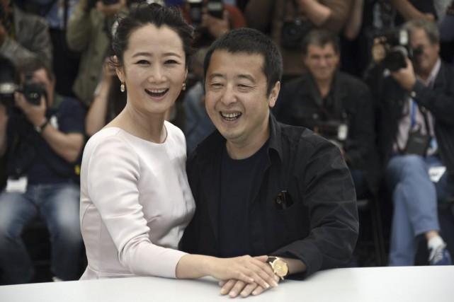 Le réalisateur Jia Zhang-Ke en compagnie de son... (Photo: AFP)