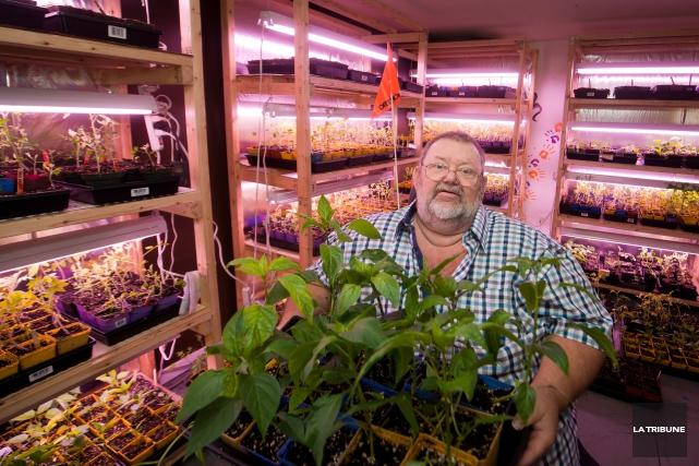 Le jardinier solidaire Jacques Vigneault s'occupe des nombreux... (IMACOM, JESSICA GARNEAU)