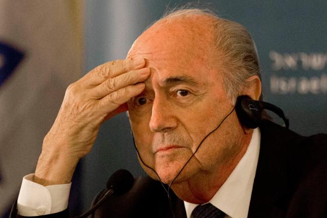 Le président de la FIFA,Sepp Blatter.... (Photo Tsafrir Abayov, AP)