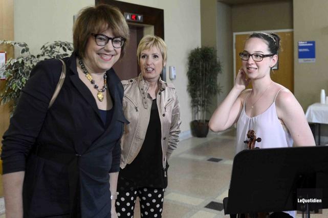 La ministre de la Culture du Québec Hélène... (Photo Le Quotidien, Jeannot Lévesque)