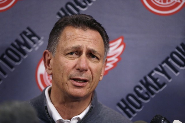 Le directeur général des Red Wings, Ken Holland... (Photo Carlos Osorio, AP)