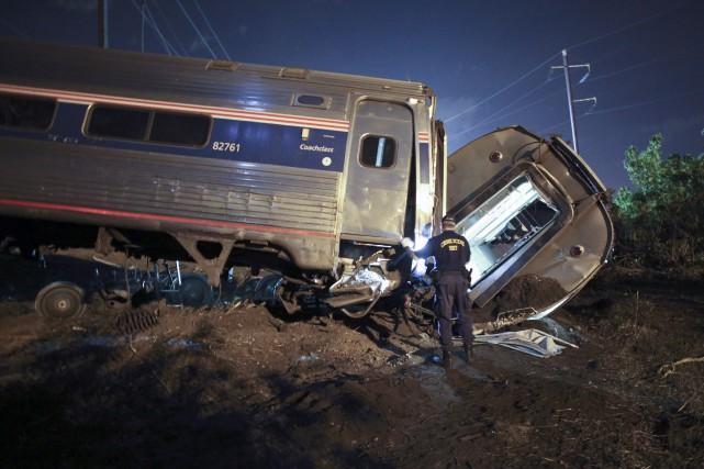 Les relevés téléphoniques du mécanicien de locomotive démontrent... (Photo Joseph Kaczmarek, AP)