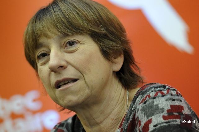 Françoise David, coporte-parole de Québec solidaire... (PHOTO PATRICE LAROCHE, ARCHIVES LE SOLEIL)