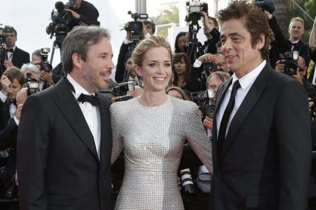 Denis Villeneuve, Emily Blunt et Benicio del Toro.... (Photo: AP)