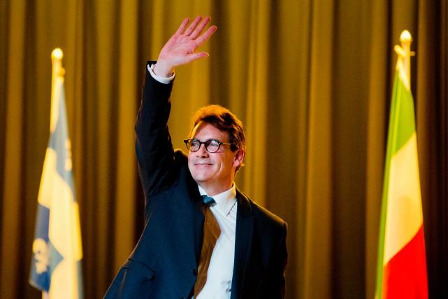 «Le président du conseil de Québecor, Brian Mulroney,... (PHOTO ALAIN ROBERGE, LA PRESSE)