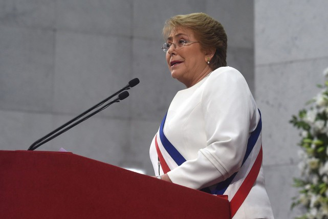 La présidente chilienne, Michelle Bachelet... (PHOTO AP/GOUVERNEMENT CHILIEN)