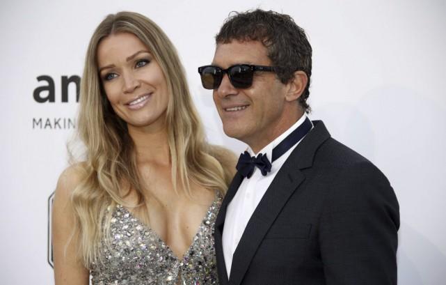 Antonio Banderas et Nicole Kimpel au gala de... (Photo: AFP)