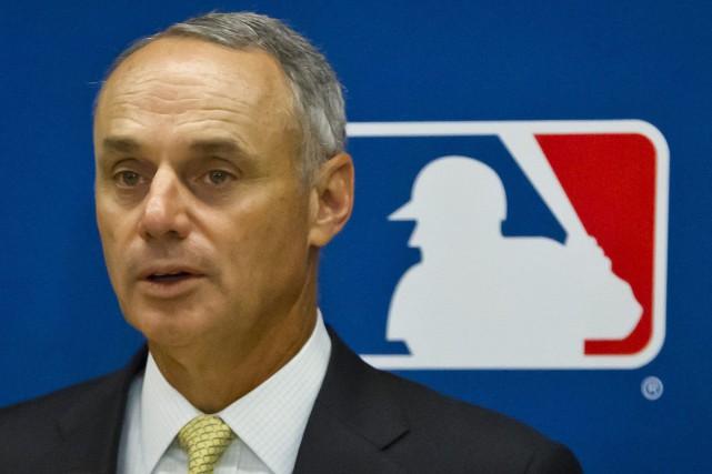Le commissaire du Baseball majeur, Rob Manfred... (Photo Bebeto Matthews, AP)