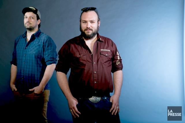 Philippe David Gagné (à gauche)a réaliséBleu tonnerreen duo... (Photo La Presse, David Boily)