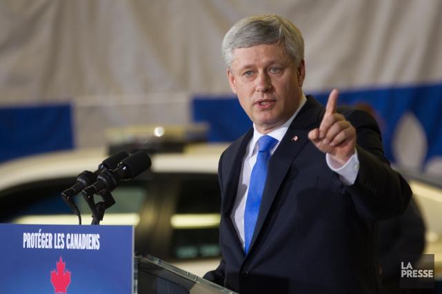 Le premier ministre du Canada Stephen Harper.... (Photo Ivanoh Demers, La Presse)